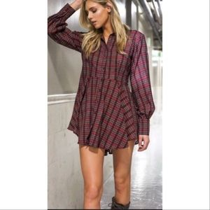 Sale🌪 *New* Red Plaid Button Tunic